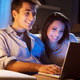 Young couple at home with laptop - PhotoDune Item for Sale