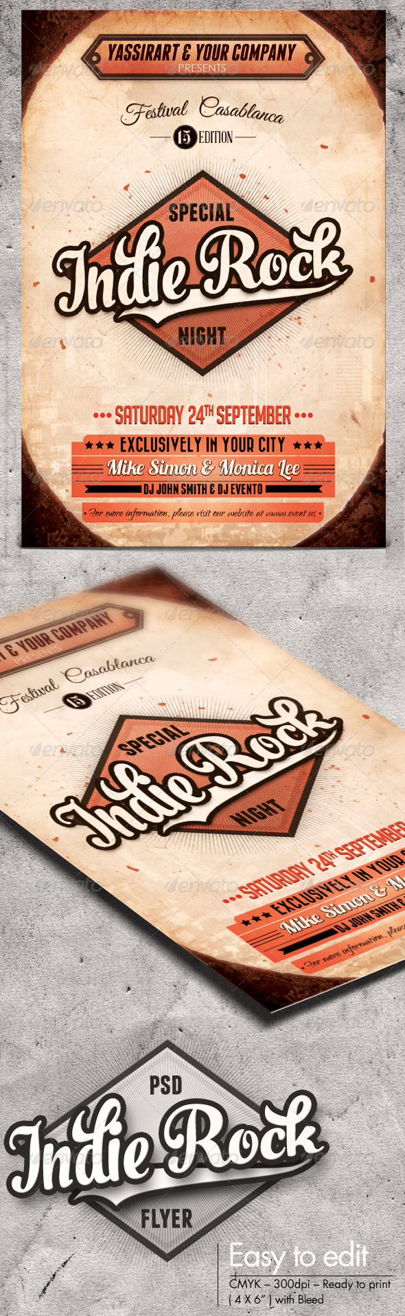 GraphicRiver Indie Rock Flyer Template 7291802