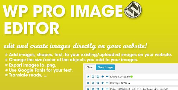 CodeCanyon WP PRO Image Editor 7292092