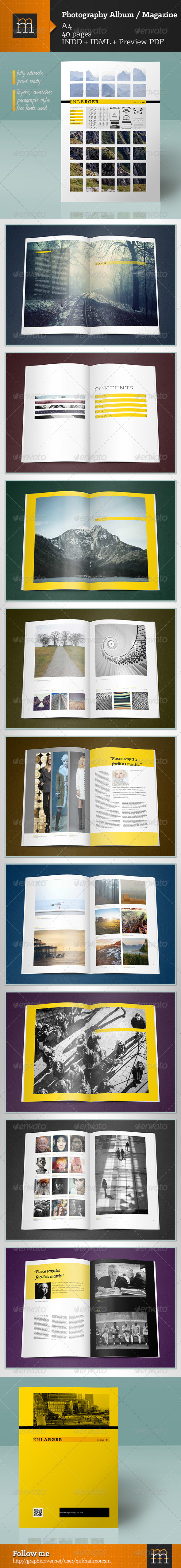 GraphicRiver Photography Album Magazine 7292107