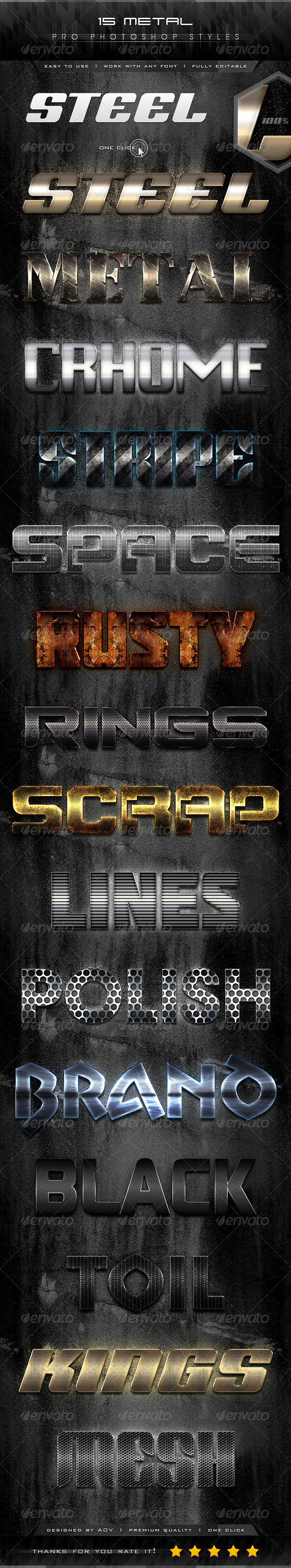 GraphicRiver 15 Metal Pro Styles 7167525