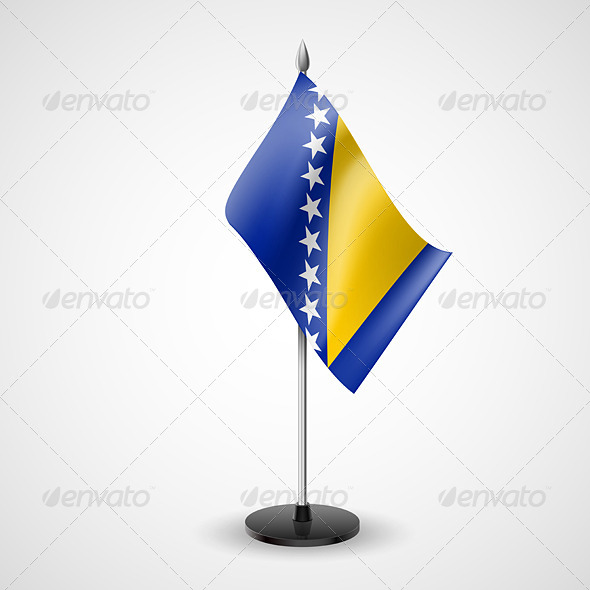 GraphicRiver Table Flag of Bosnia and Herzegovina 7292159