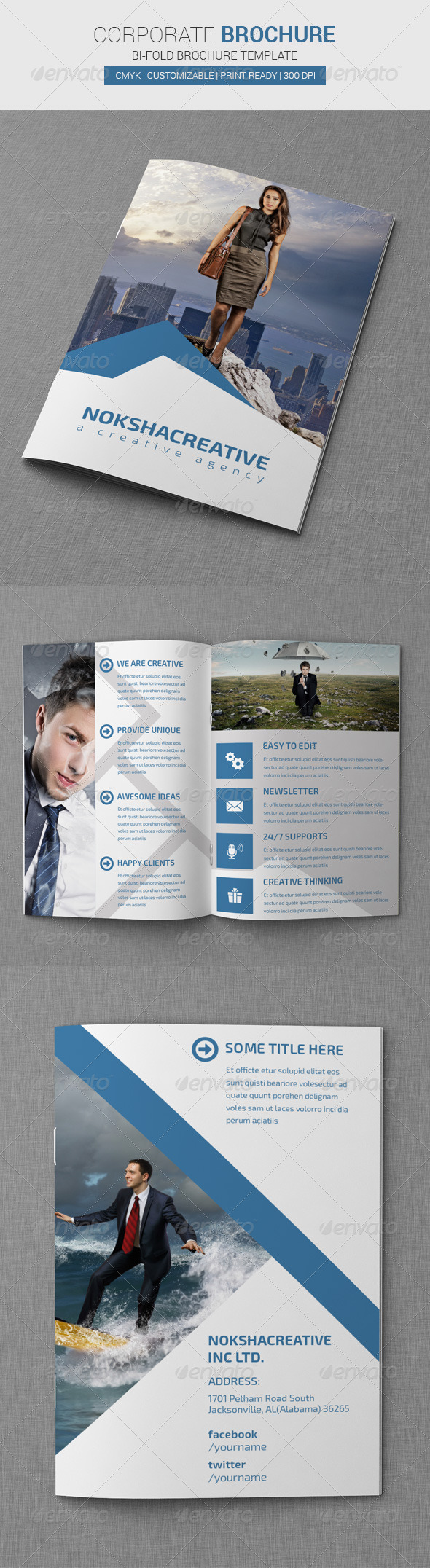 GraphicRiver Corporate Bi Fold Brochure 7269724