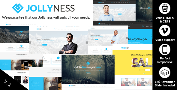 ThemeForest Jollyness Multi Purpose HTML5 Website Template 7229810