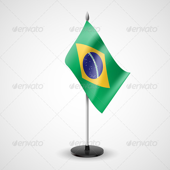 GraphicRiver Table Flag of Brazil 7292407