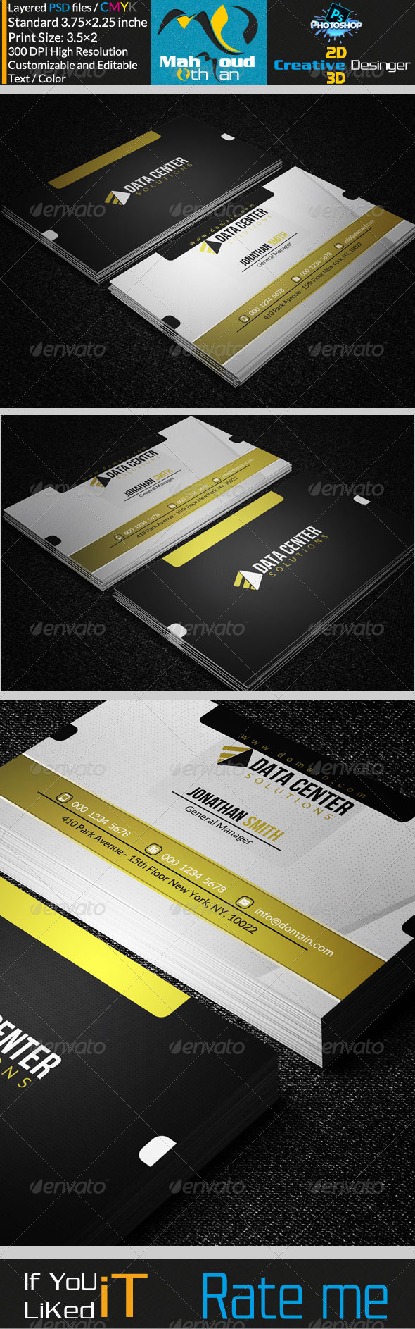 GraphicRiver Corportae Business Card MO10 7292410