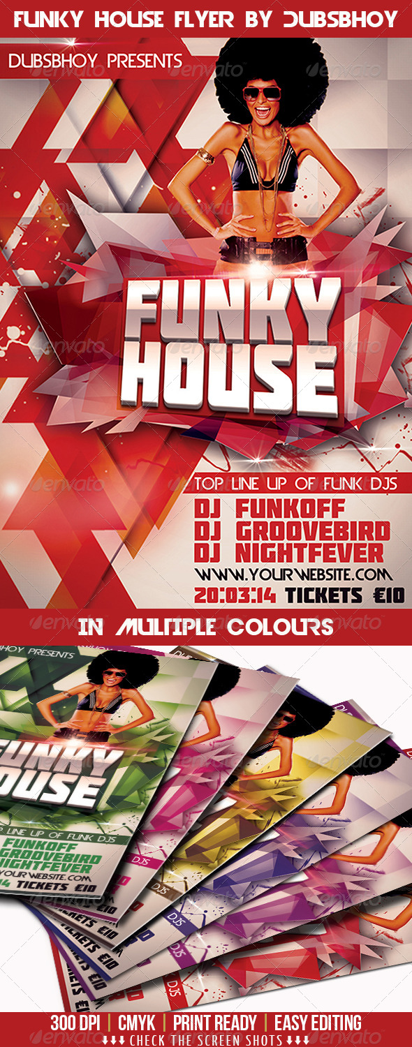 GraphicRiver Funky House Flyer 7265805