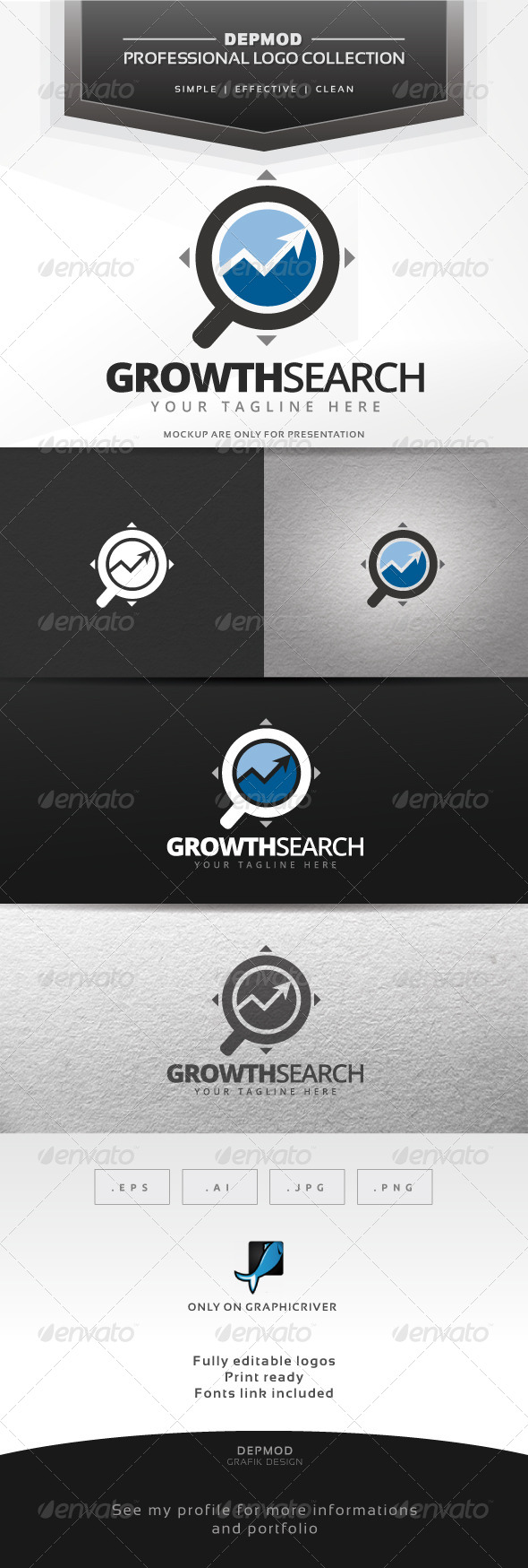 GraphicRiver Growth Search Logo 7292520