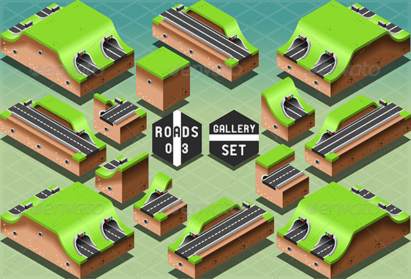 GraphicRiver Isometric Galleries Tunnels and Sections 7292524