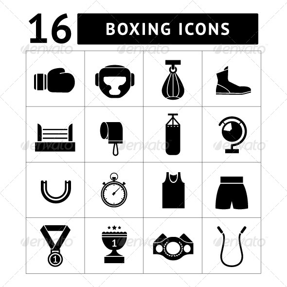 GraphicRiver Set Icons of Boxing 7292545