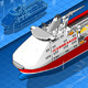 Isometric Icebreaker Ship Isolated in Front View - GraphicRiver Item for Sale
