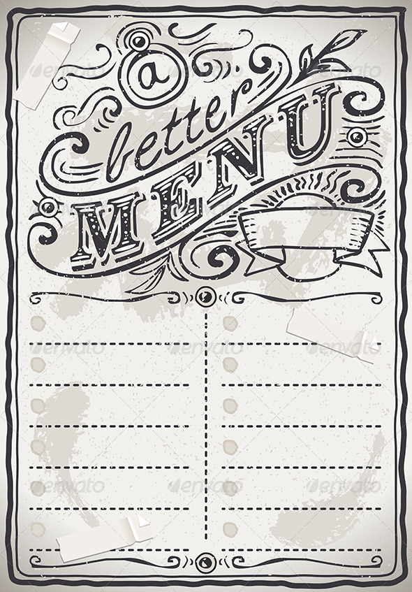 GraphicRiver Vintage Graphic Page Menu for Restaurant 7292567