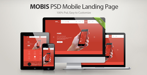 ThemeForest Mobis App Landing Page 7203805