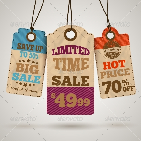GraphicRiver Cardboard Sale Promotion Tags 7292691
