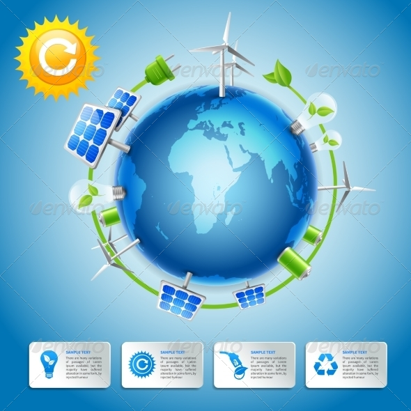 GraphicRiver Green Energy and Power Concept 7292696