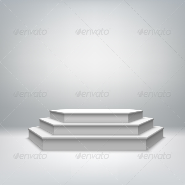 GraphicRiver Blank White Stage Podium 7292697