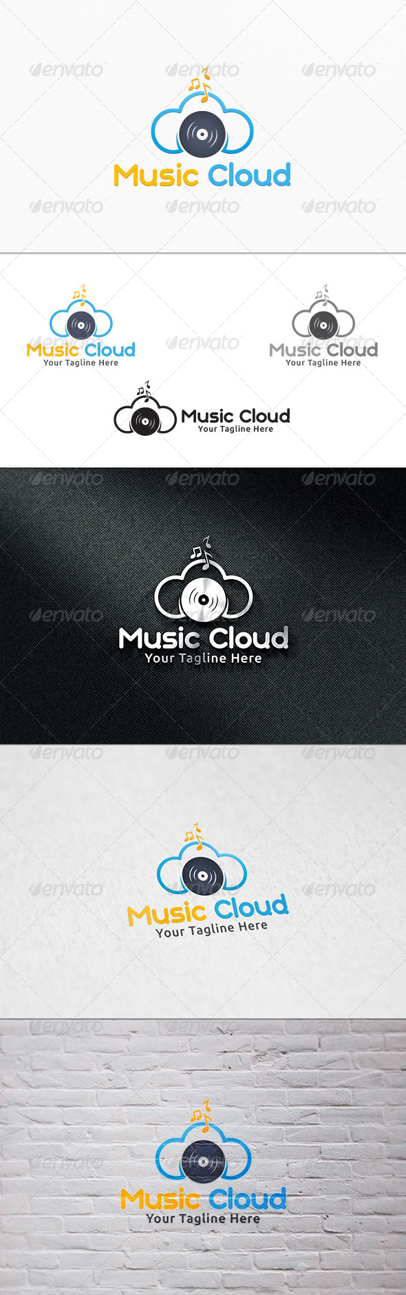 GraphicRiver Music Cloud Logo Template 7292700