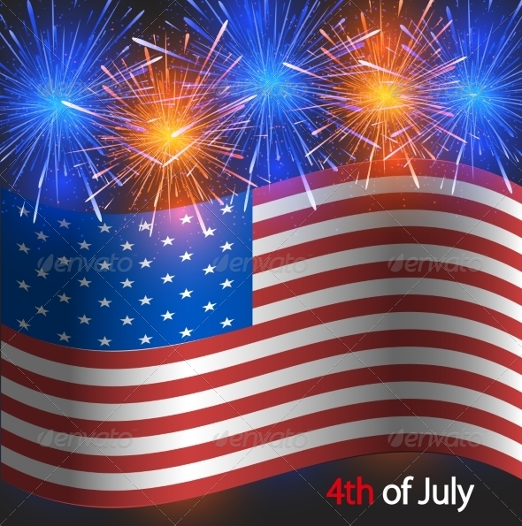 GraphicRiver Vector 4th of July Background Independence Day 7292710