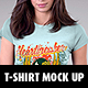 Realistic T-Shirt Mock Up - GraphicRiver Item for Sale