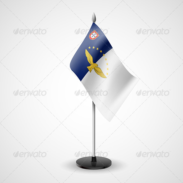 GraphicRiver Table Flag of Azores 7292724