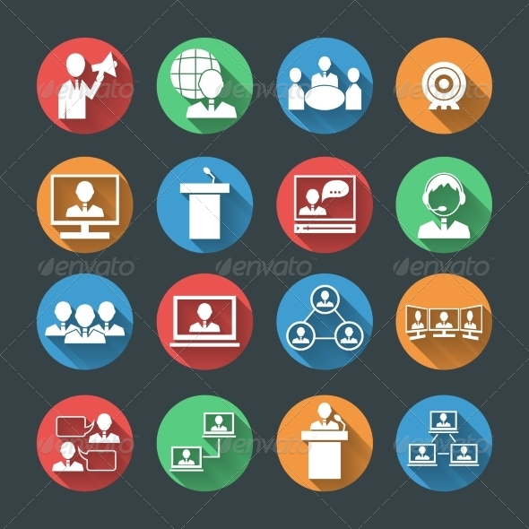 GraphicRiver Business People Icons Set 7292738