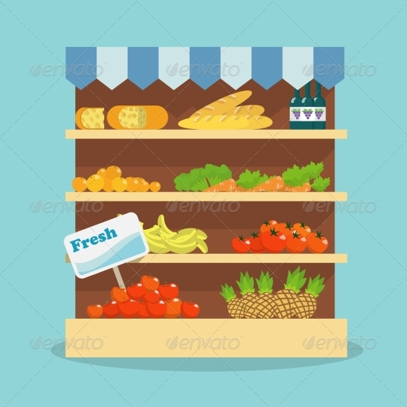 GraphicRiver Supermarket Food Collection 7292742