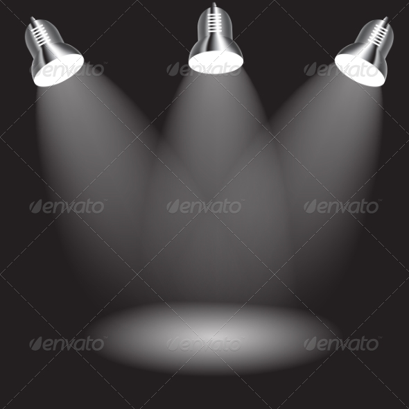 GraphicRiver Background with Lighting Lamp Empty Space for You 7292864
