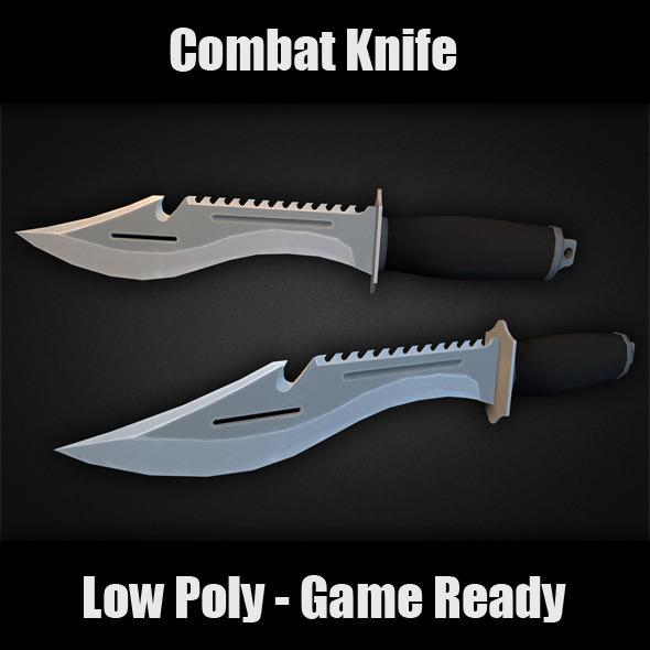 3DOcean Combat Knife 7293044