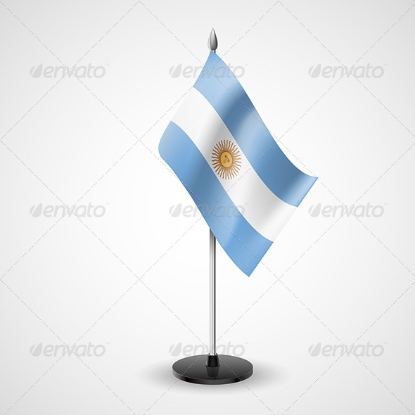GraphicRiver Table Flag of Argentina 7293165
