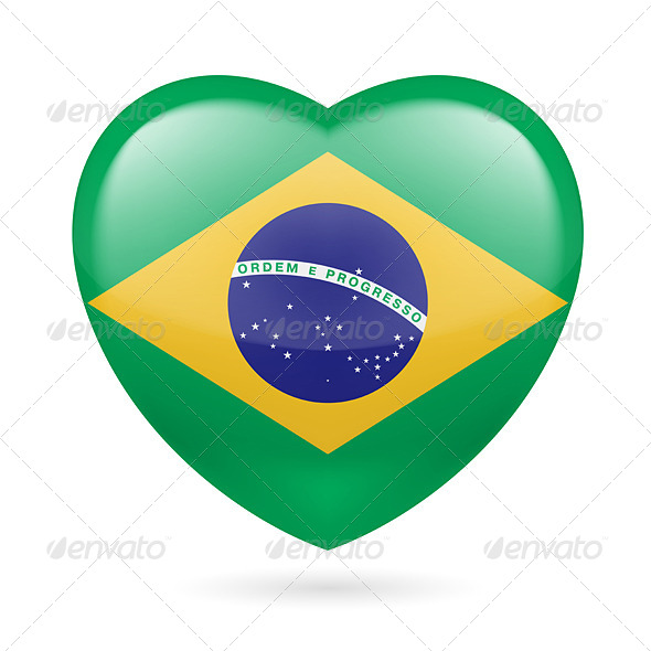 GraphicRiver Heart Icon of Brazil 7293462