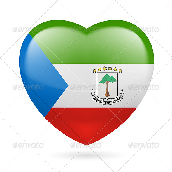GraphicRiver Heart Icon of Equatorial Guinea 7293464