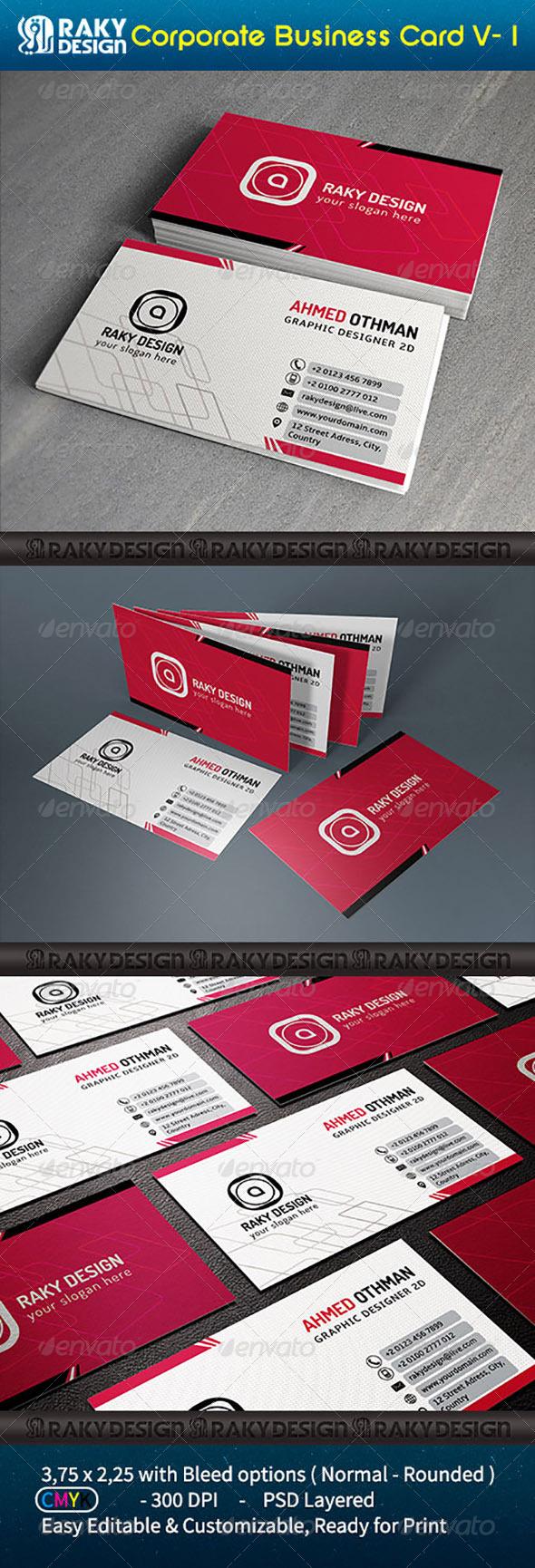 GraphicRiver Corpotare Business Card Vol-1 7248140