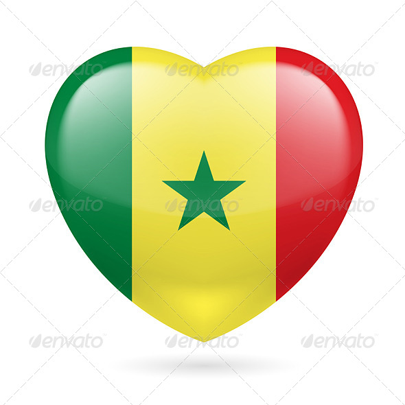 GraphicRiver Heart Icon of Senegal 7293617