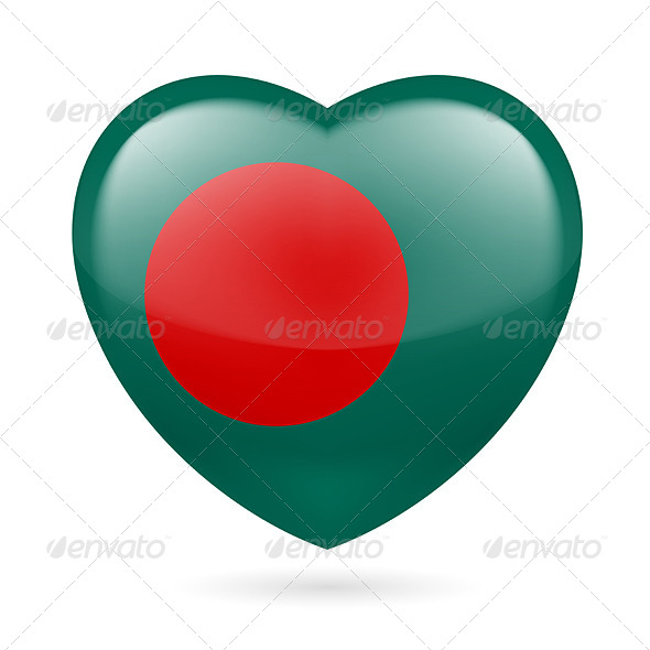 GraphicRiver Heart Icon of Bangladesh 7293618