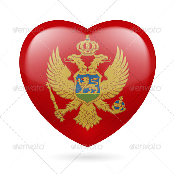 GraphicRiver Heart Icon of Montenegro 7293620