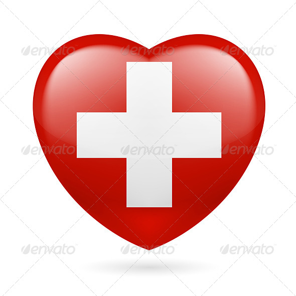GraphicRiver Heart Icon of Switzerland 7293622