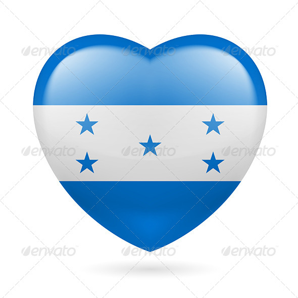 GraphicRiver Heart Icon of Honduras 7293623