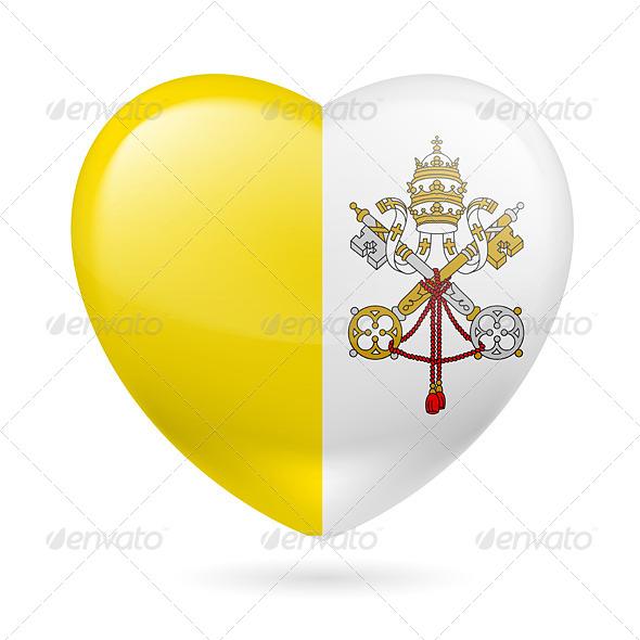 GraphicRiver Heart Icon of Vatican City 7293624