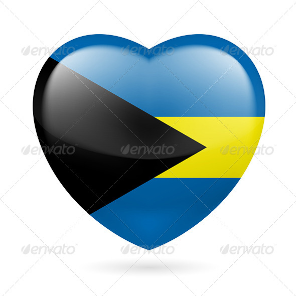 GraphicRiver Heart Icon of Bahamas 7293625