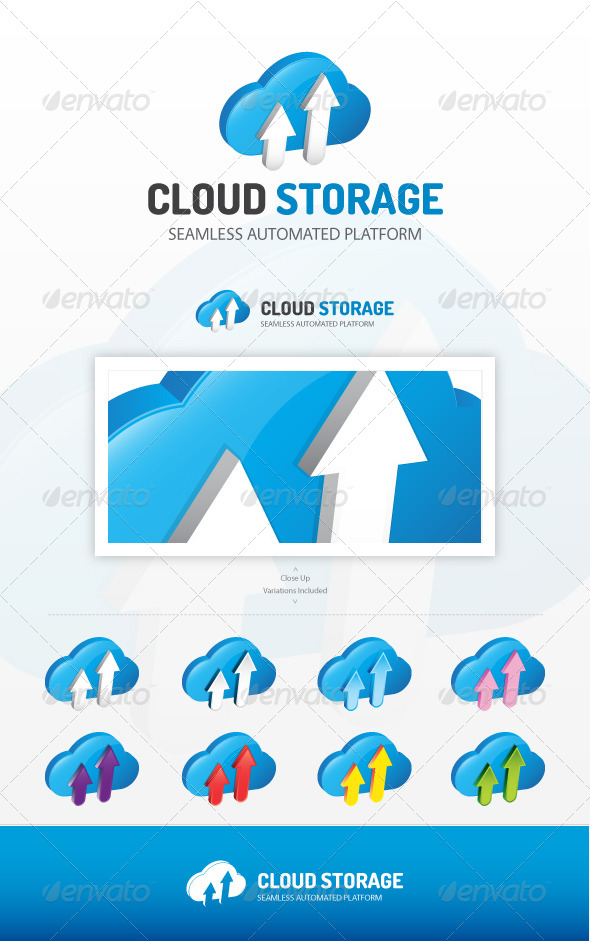 GraphicRiver Cloud Storage Logo 7293814