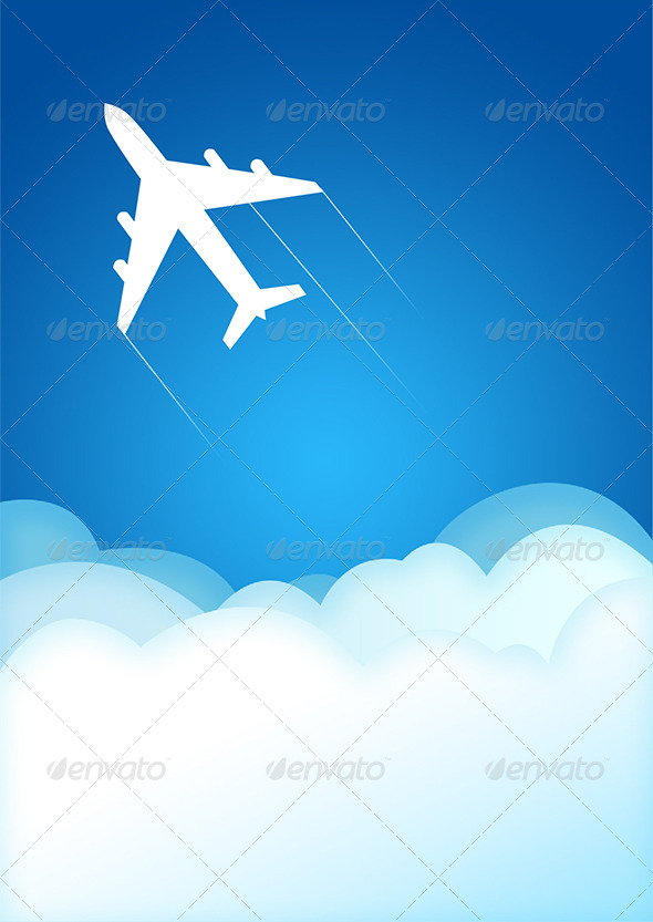 GraphicRiver Airplane Illustration 7293831