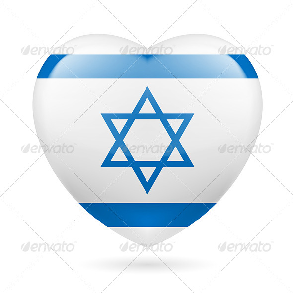 GraphicRiver Heart Icon of Israel 7293840