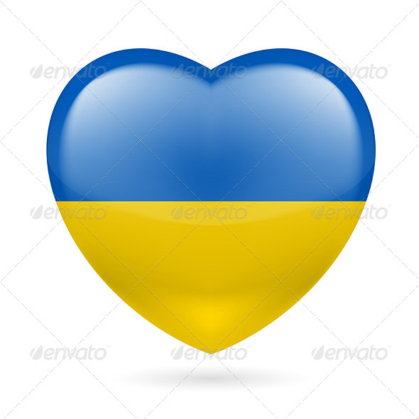 GraphicRiver Heart Icon of Ukraine 7293841