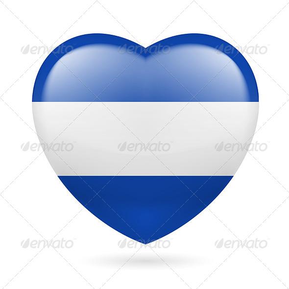 GraphicRiver Heart Icon of El Salvador 7293842