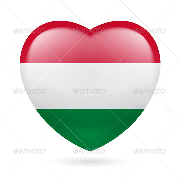 GraphicRiver Heart Icon of Hungary 7293843