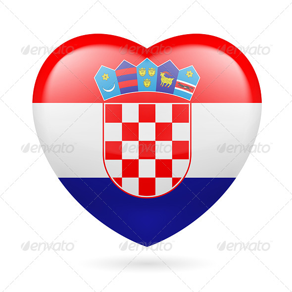 GraphicRiver Heart icon of Croatia 7293844