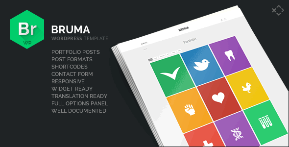 ThemeForest Bruma Blog & Portfolio Template 7241614