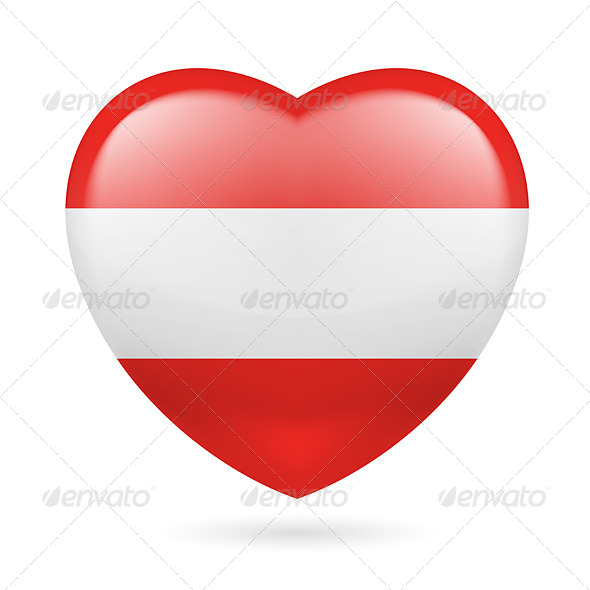 GraphicRiver Heart Icon of Austria 7293945