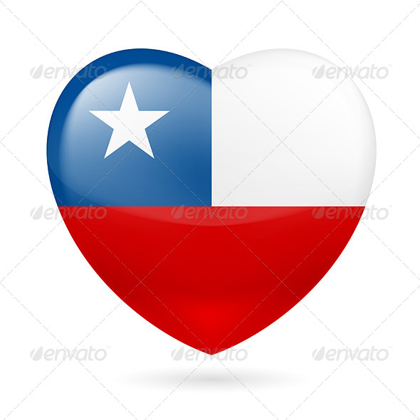 GraphicRiver Heart Icon of Chile 7293947