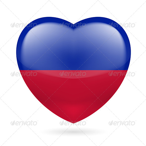 GraphicRiver Heart Icon of Haiti 7293948